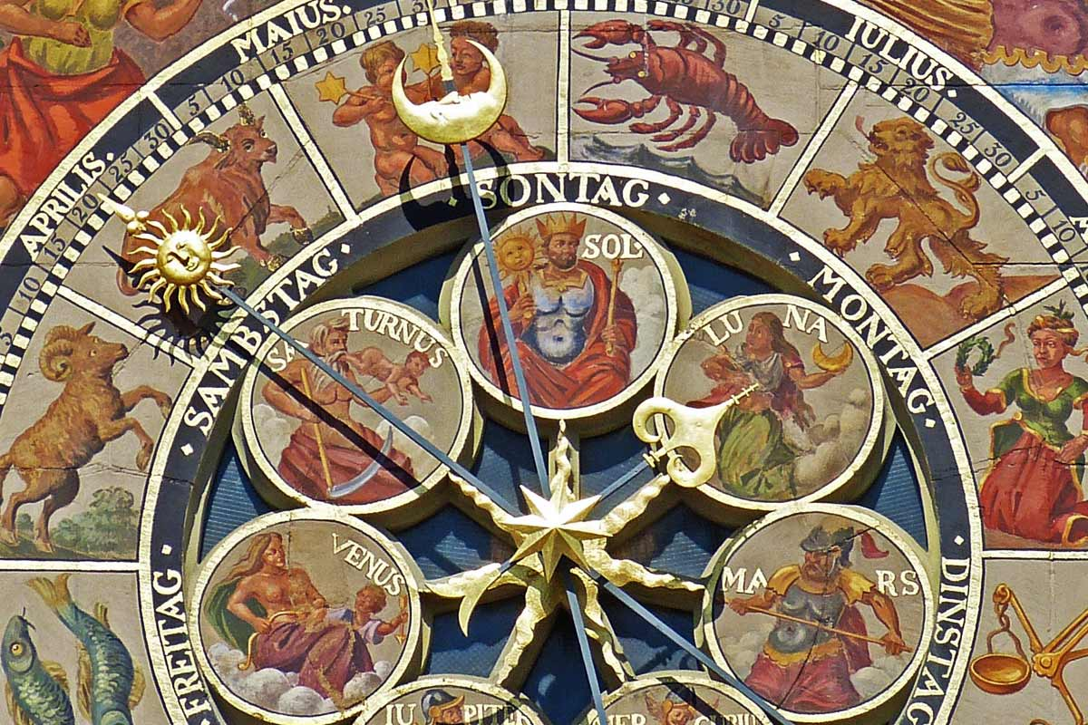 Astronomical Clock with Zodiac Signs